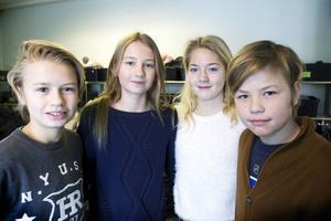 Fridhemseleverna Alva Huldberg, Moa Wilhelmsson, William Öhman och Ivan Engstedt Skönblom tänker välja Vallbacksskolan.