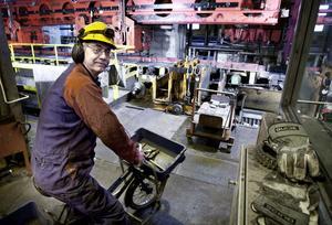 Kent Egilsson är en av många anställda på Ovako som kan känna framtidstro.