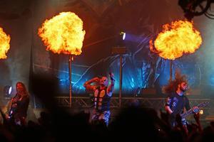 Sabaton bjöd på en mäktig show på årets festival.