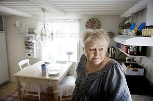 Rofyllt. Anita Wallin uppskattar lugnet i den gamla gruvarbetarbostaden.