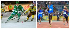 Robin Sundin och Usain Bolt.