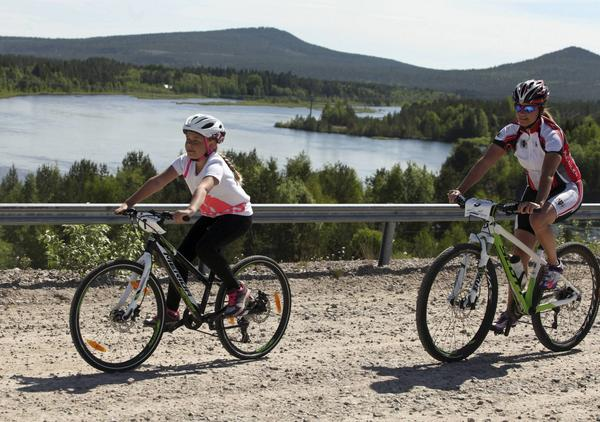 Fina vyer bjöds de cyklande under Härjedalstrampen.
