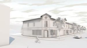 Tomrummet i Gamla stan skulle kunna fyllas med en byggnad i den här arkitekturen.