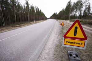 Så mycket som 30 procent av trafiken utgörs av tung trafik, vilket ger mycket vägskador.   Vägen ska bli mötesfri med 2 plus 1 filer med vajerräcke.