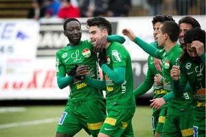 Diego Montiel har gjort mål i den första seriematchen mellan Dalkurd och Brage, säsongen 2015.