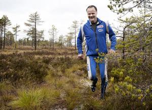 54-årige Arne Nilsson från Grängesberg sprang och lunkade sig igenom Gruvtrampen.