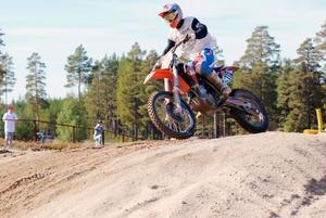 Alfta– Edsbyns Rikard Hansson körde in på en fin femte plats i det tredje heatet.