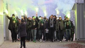 VSK-fansen gjorde ett stort arbete med att protestera mot