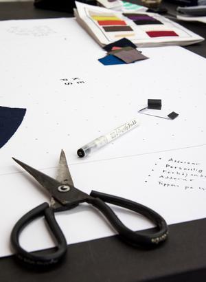Jacobs ateljé är en kreativ verkstad också för kunderna.