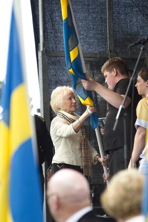 Nationaldagen.Britt Sandström, kommunfullmäktiges ordförande.