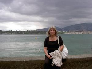 Margareta Elensky vid Genèvesjön.