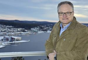 Glenn Nordlund, socialdemokratiskt kommunalråd – och cyklist på Järvedsleden.