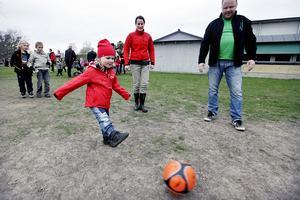 Lilla Majken Lindblad lyckades placera bollen på planket flera gånger.