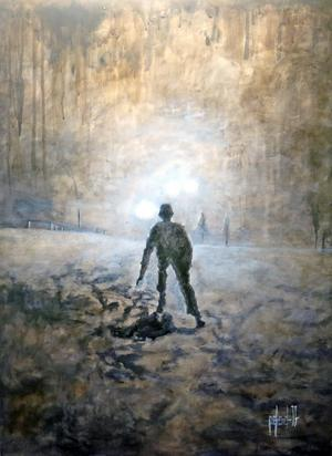 Även det ljusa har ett mörker i Peter Endahls måleri.