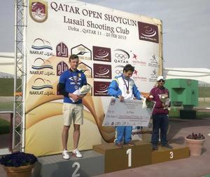 Silver. Henrik Jansson tog hem silvermedaljen och en prissumma på 6 000 dollar under tävlingarna i Qatar förra helgen. Foto: Privat