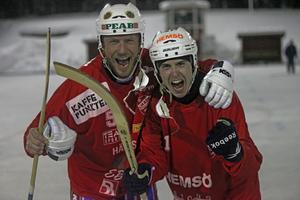 Stefan Nordén gjorde 1-0 på pass av Erik Risby och när Haik avgjorde blev ordningen den omvända. Risby gjorde målet och Nordén spelade fram.