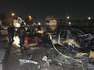 Igår exploderade en bilbomb i förorten Sadr.