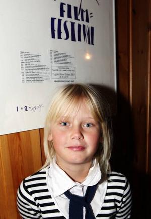"""Hanna Lycke hade åkt från Mora för att vara med på filmfestivalen. """"Ice Age och Pettson och Findus var bäst"""", menade hon. Foto: Håkan Degselius"""