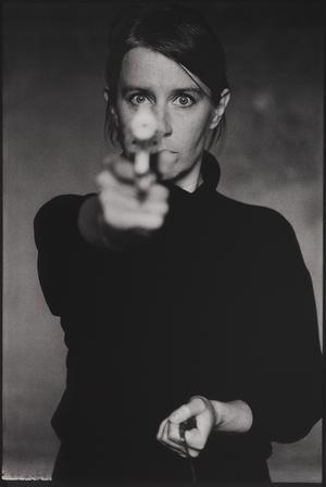 Självporträtt från 1993. Pressbild.