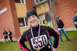 Eva Hanning, Vattudalen, vann halvmaran på 1.41,09.