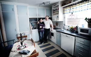 Eva och Jan Sturesson har behållit originalköket.