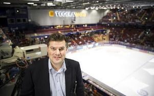 Anders Doverskog, klubbdirektör i Leksands IF, är nöjd medpublik- siffrorna. Foto: Lars Dafgård/DT