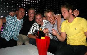 Pluto. Johan, Ove, Olof, Rickard och  Urban