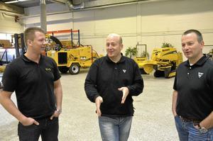 Bra läge. De allra flesta av Vermeers kunder i Sverige tycker att det är bra att André Hoondert och Jarno van Dompselaar har startat upp en verksamhet mer centralt i landet, eftersom den tidigare återförsäljaren fanns i Skåne. På bilden längst till vänster även Martin Söderklint, som anställts som produktspecialist.