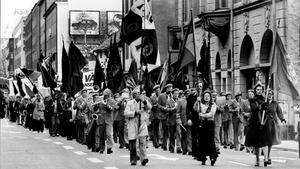 Den tid är förbi när tusentals västeråsare marscherade på första maj från Stora torget till Folkets park. Bilden är från 1977.