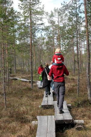 Två leder finns att välja på, en på tre kilometer och en på 1,5 kilometer.
