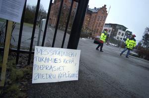 Blockaden mot byggföretaget Laval i Vaxholm, 2004.