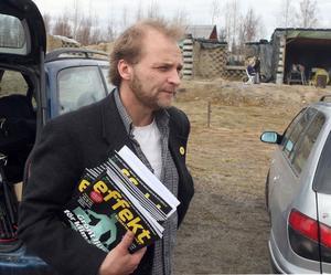Anders Persson, nyckelperson i Framtidsveckan i Hälsingland, är nöjd med det veckolånga arrangemanget. - Det växte och blev mycket större än jag trodde, sa han när vi träffade honom på Miljödagen i Mobodarne.