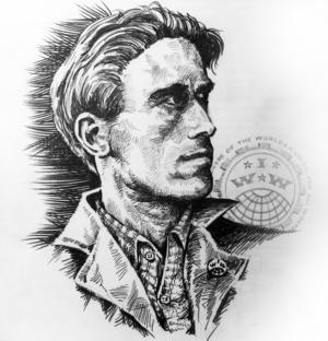Joe Hill-porträtt ur boken