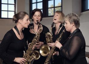 Saxofonkvartetten Rollin´Phones uruppför Fredrik Högbergs verk