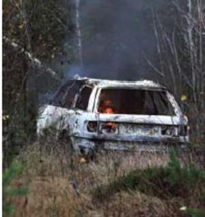 Även vid Vansbrorånet eldades flyktbilen upp efter bara några kilometers flykt.