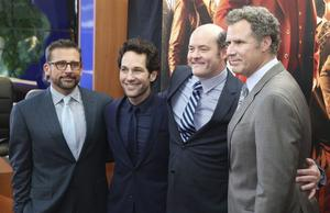 Paul Rudd Steve Carell, Will Ferrell och David Koechner.
