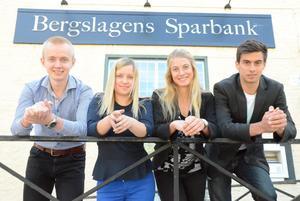 Drömjobbare 2015. Magnus Danielsson, Agnes Gintrainyte, Michaela Persson och Filip Bilek. Saknas på bilden gör Frida Franchi Rapp.