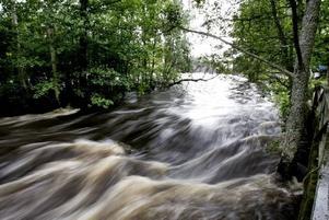 Flyter på. Det höga vattenståndet i Gavleån ger Gävle energi en hel del pengar.