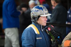 Stefan Melander i vinnarcirkeln.