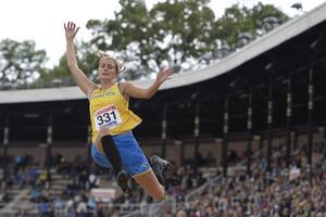 Sandra Törnros hoppade sitt livs längsta längdhopp i finnkampsdebuten.