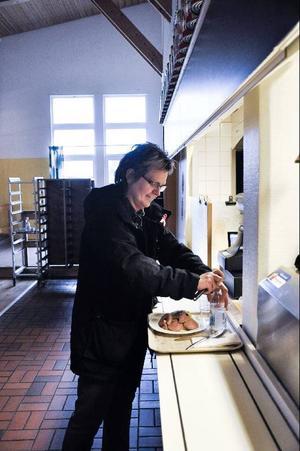 Kerstin Vennberg, Sveg– Nej, jag tycker om lite vanlig mat som husmanskost. I dag tog jag korv och rotmos.