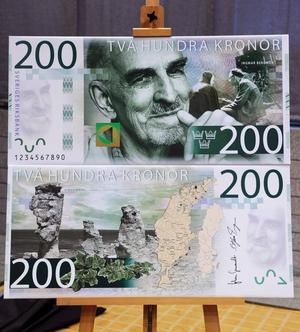 Ingmar Bergman på 200-kronorssedeln.