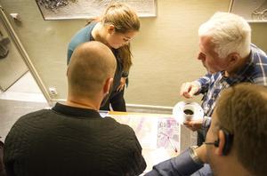 Amanda Stenberg vid Trafikverket informerade om alternativen.