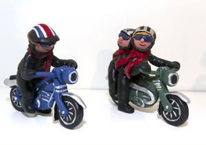 DETALJER. Konstnären Gunilla Westling har gjort motorcyklister i cernitlera.