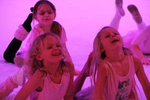 Över 100 barn och ungdomar medverkade under torsdagens julshow i Viksjöfors. Publiken fick se en rad olika typer av dans, allt från klassisk balett till musik av Michael Jackson. Lasse Fagernäs gjorde ett hisnande nummer högt ovanför golvet.