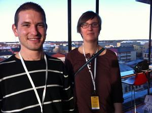 tudelat. Xamuel Halvars, Hofors, och Carolina Andersson, Sandviken, hade hoppats på delat ledarskap i Vänsterpartiet.