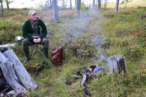 Här, på passet vid Krysset, har Lars Persson haft några av sina bästa jaktupplevelser.
