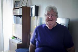 Margareta Eriksson är väldigt nöjd med sin nya lägenhet, den har allt hon behöver.