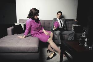 Matthew Worth spelar den amerikanske presidenten John F Kennedy och Daniela Mack hans fru Jacqueline Kennedy i JFK-operan.