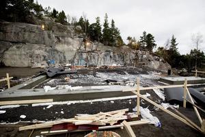 Jobbet med den nya restaurangen på Hemsö fästning har pågått sedan i september och ska vara klart till våren.
